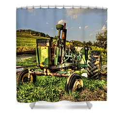 Antique Tractor Shower Curtain by Dan Friend