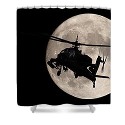 Apache In The Moonlight Shower Curtain
