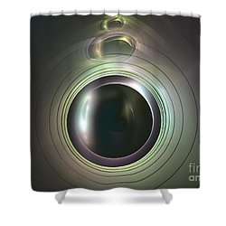 Aperture Shower Curtain by Kim Sy Ok