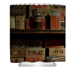 Shower Curtain featuring the photograph Apothecary by Newel Hunter