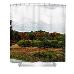 Apple Orchard Gone Wild Shower Curtain by Barbara McMahon