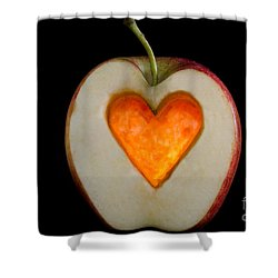 Apple With A Heart Shower Curtain