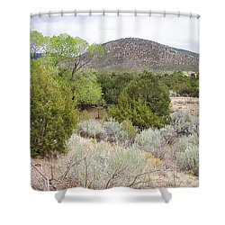 April New Mexico Desert Shower Curtain