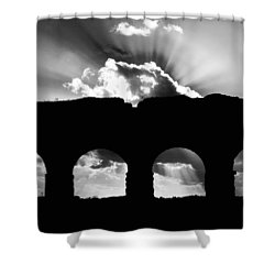 Aqua Claudia Aqueduct Shower Curtain