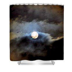 Aquarius Full Moon Shower Curtain
