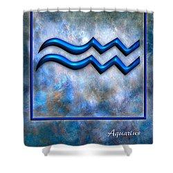 Aquarius  Shower Curtain by Mauro Celotti