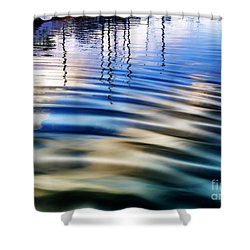 Aquatic Reflections Shower Curtain by Mariola Bitner