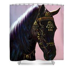 Arab Horse Shower Curtain by MGL Studio - Chris Hiett
