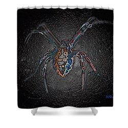 Shower Curtain featuring the photograph Arachnophobia by Patrick Witz