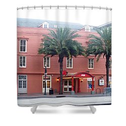 Shower Curtain featuring the photograph Arby's At Dawn by Alys Caviness-Gober