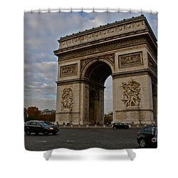 Shower Curtain featuring the photograph Arc De Triomphe by Eric Tressler