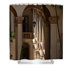 Shower Curtain featuring the photograph Arches And Columns At The Biltmore Hotel by Ed Gleichman