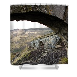 Arches And Mountains Shower Curtain by Steve McKinzie