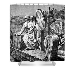 Archimedes Heat Ray, Siege Of Syracuse Shower Curtain by Science Source