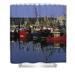 Ardglass, Co Down, Ireland Fishing Shower Curtain by The Irish Image Collection
