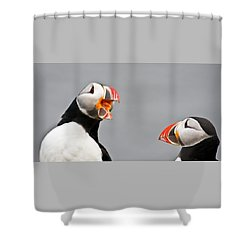 Are You Listening To Me Shower Curtain