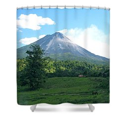 Shower Curtain featuring the photograph Arenal by Eric Tressler