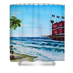 Argh 'bout Time Mateys Shower Curtain by Shana Rowe Jackson