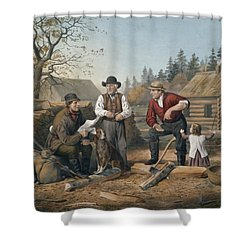 Arguing The Point Shower Curtain by Currier and Ives