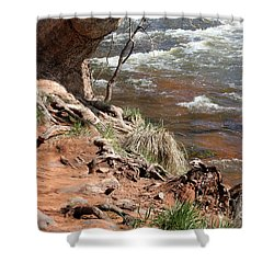 Shower Curtain featuring the photograph Arizona Red Water by Debbie Hart