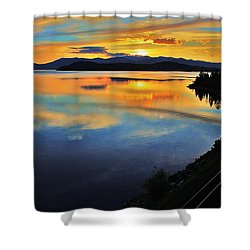 Around The Bend Shower Curtain by Benjamin Yeager
