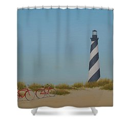 Arriving At Cape Hatteras Shower Curtain