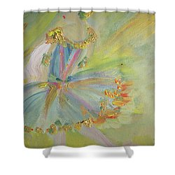 Shower Curtain featuring the painting Art Deco Ballet by Judith Desrosiers