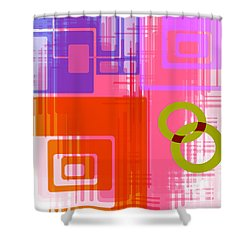 Shower Curtain featuring the digital art Art Deco Style Digital Art by Susan Leggett