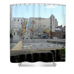 Art Du Commun Mural Mission Old Brewery Shower Curtain