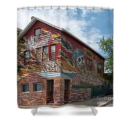 Art House South Chicago Mural Shower Curtain