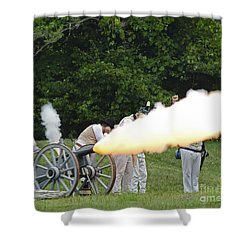 Artillery Demonstration Shower Curtain