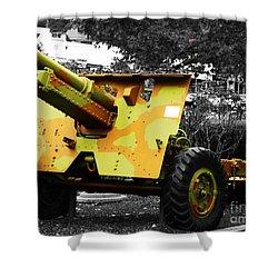 Shower Curtain featuring the photograph Artillery Piece by Blair Stuart