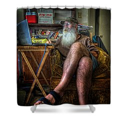 Artist In Repose Shower Curtain