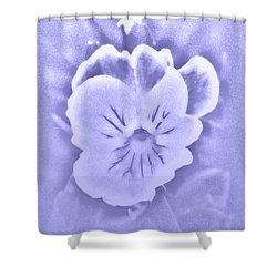 Artistic Pansy Shower Curtain by Karen Harrison