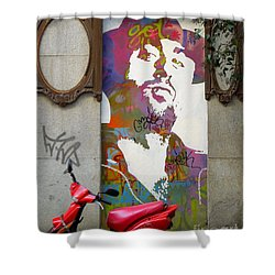 Artistic Words Shower Curtain