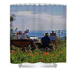 Artists At Work Shower Curtain by Lynn Bauer