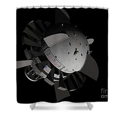 Artists Concept For An Orion-drive Shower Curtain by Rhys Taylor