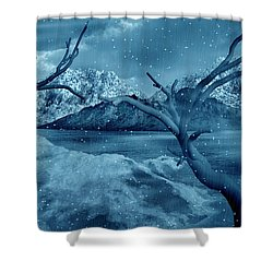 Artists Concept Of A Dangerous Snow Shower Curtain by Mark Stevenson