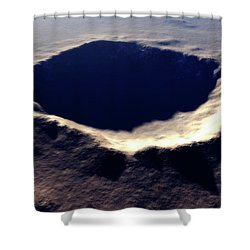 Artists Concept Of Meteor Crater Shower Curtain by Rhys Taylor