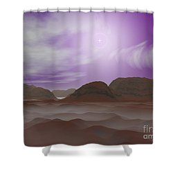 Artists Concept Of The Atmosphere Shower Curtain by Walter Myers