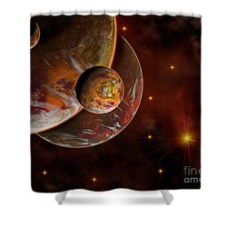 Artists Concept Of The Birth Place Shower Curtain by Mark Stevenson