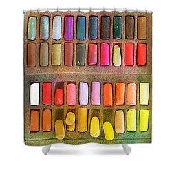 Artists Rainbow Shower Curtain