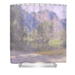 As If Monet Painted Yosemite Shower Curtain by Heidi Smith