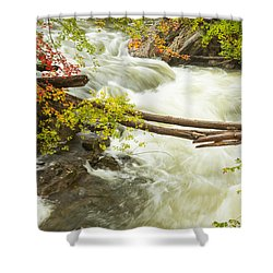 As The River Flows Shower Curtain by Karol Livote