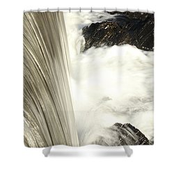 As The Water Falls Shower Curtain by Karol Livote