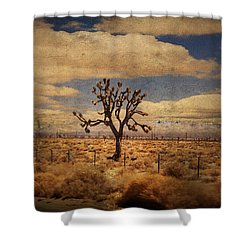As We Go Down Life's Lonesome Highway Shower Curtain by Laurie Search