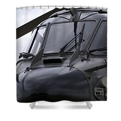 As532 Cougar Of Switzerland Air Force Shower Curtain by Ramon Van Opdorp