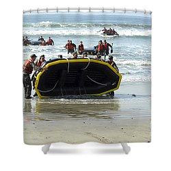 Asic Underwater Demolitionseal Students Shower Curtain by Stocktrek Images