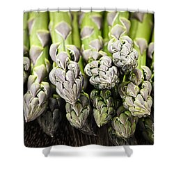 Asparagus Shower Curtain by Elena Elisseeva
