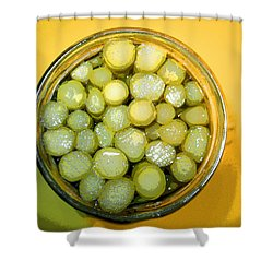 Shower Curtain featuring the photograph Asparagus In A Jar by Kym Backland